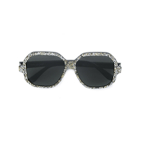 Saint Laurent Eyewear Óculos De Sol Modelo 'new Wave 2' - Metálico