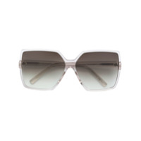 Saint Laurent Eyewear Óculos de sol quadrado oversized - Neutro