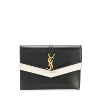 Saint Laurent Foldover Clutch Bag - Preto