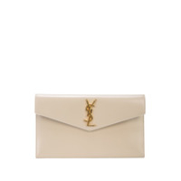 Saint Laurent Logo Appliqué Clutch - Neutro