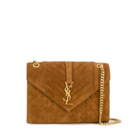 Saint Laurent Medium Envelope Matelassé Shoulder Bag - Marrom