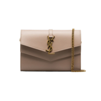 Saint Laurent Clutch 'sulpice' De Couro - Neutro