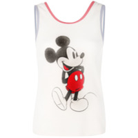 Saint Laurent Regata Com Estampa Mickey Mouse - Branco