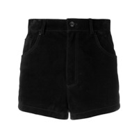 Saint Laurent Short Cintura Alta - Preto