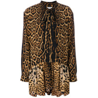 Saint Laurent Vestido Animal Print - Preto