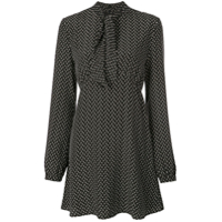 Saint Laurent Vestido Estampado - Preto