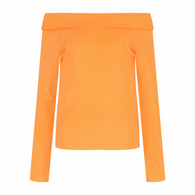 Sale Blusa Tricot Ombro A Ombro - Laranja
