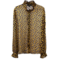 Saloni Sheer Polka Dot Shirt - Preto