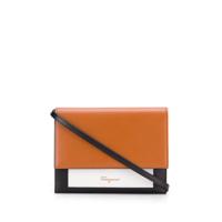 Salvatore Ferragamo Clutch Color Block - Marrom
