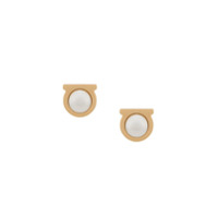 Salvatore Ferragamo Gancini Stud Earrings - Dourado