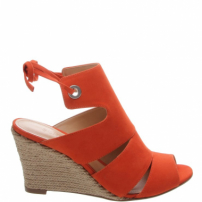 Sandália Anabela Power Nobuck Orange | Schutz