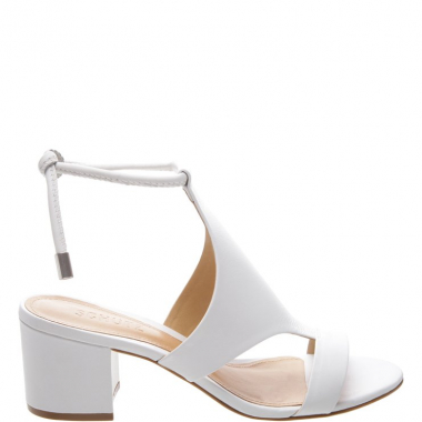 Sandália Block Heel Cover Up White | Schutz