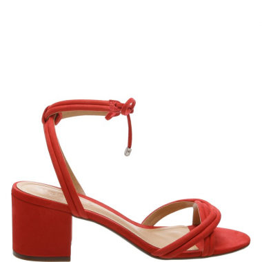 Sandália Block Heel Lace-Up Red | Schutz