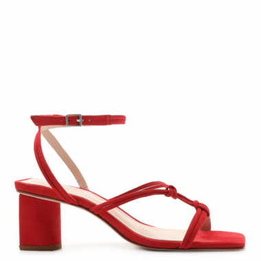 Sandália Block Heel Strings Red | Schutz