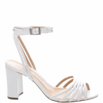 Sandália Block Heel Strings White | Schutz