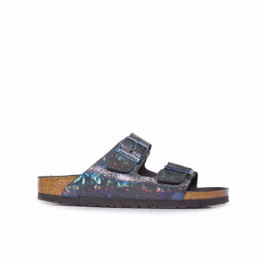 Sandália Feminina Arizona Hex Spotted Metallic - Preto