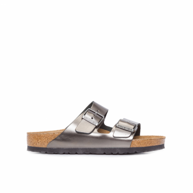 Sandália Feminina Arizona Metallic Anthracite – Cinza