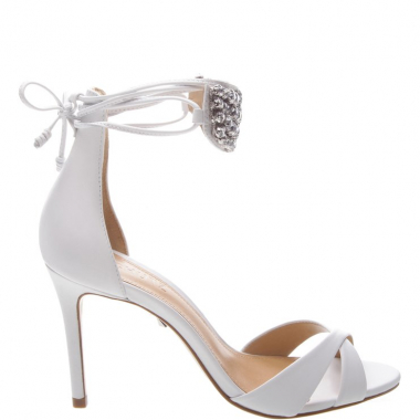 Sandália Metallic Pearls White | Schutz