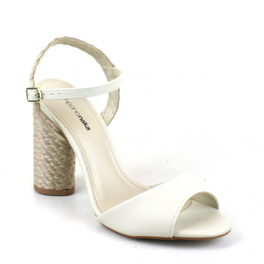 Sandalia New Pele Off White                 35