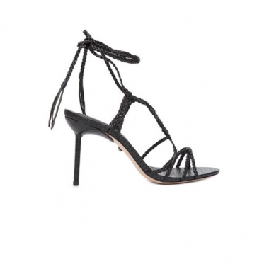 Sandália Salto Strings Lace Up Schutz - Preto