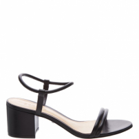 Sandália Strings Block Heel Black | Schutz