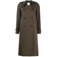 Sandro Paris Trench Coat Xadrez - Verde