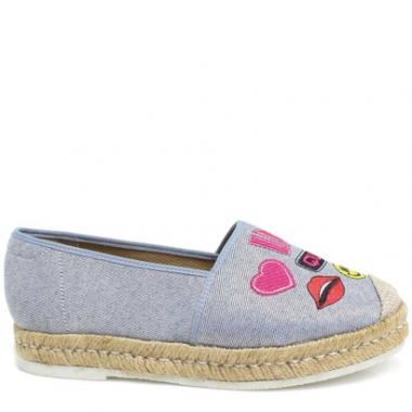 Sapatilha Jeans Patches Zariff Shoes Feminino.-Feminino
