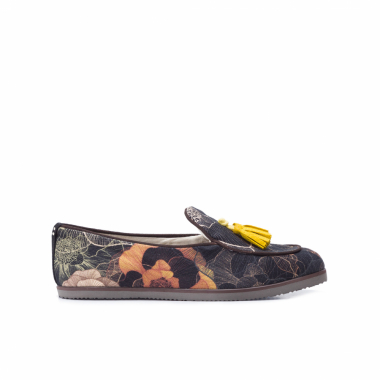 Loafer Unissex Web Flowers - Preto