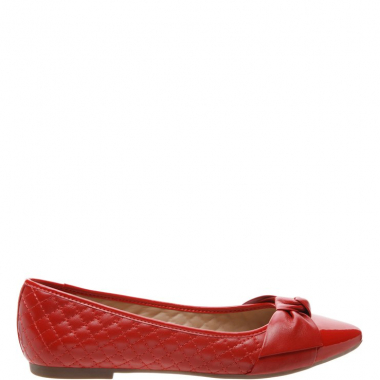 Sapatilha Matelassê Lace Up Verniz Royal Red | Arezzo
