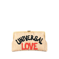 Sarah'S Bag Bolsa Clutch Universal Love - Marrom