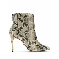 Schutz Bota Cano Curto Animal Print - Neutro
