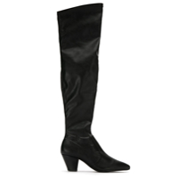 Schutz Bota over the knee de couro - Preto