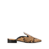 Schutz Mule Animal Print Cobra - Marrom