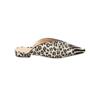 Schutz Mule Mix Animal Print