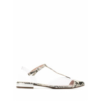 Schutz Sapatilha Animal Print E Vinil - Estampado