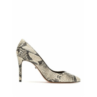 Schutz Scarpin Animal Print - Branco