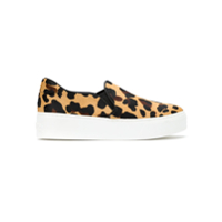 Schutz Tênis Slip On Animal Print - Neutro