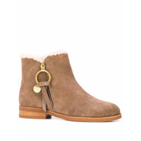 See By Chloé Ankle Boot Louise - Marrom