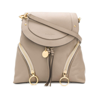 See By Chloé Olga Structured Backpack - Cinza