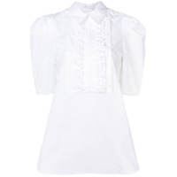 See By Chloé Short-Sleeve Ruffled Blouse - Branco