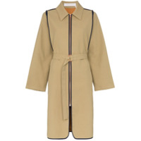 See By Chloé Zip-Up Cotton Trench Coat - Neutro