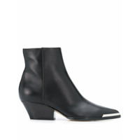 Sergio Rossi Metal Detail Ankle Boots - Preto