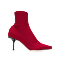 Sergio Rossi Sock Ankle Boots - Vermelho