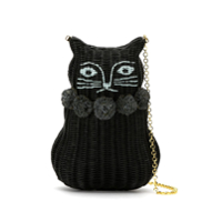Serpui Clutch 'cat' De Palha - Preto