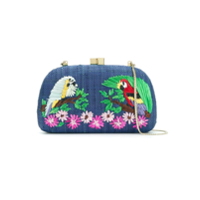 Serpui Clutch De Palha - Estampado