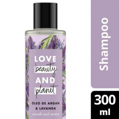 Shampoo Smooth And Serene Óleo De Argan & Lavanda Love Beauty And Planet 300Ml-Feminino