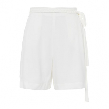 Short Acinturado Crepe Luiza Botto – Off White