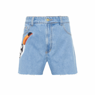 Short Bordado Tucano Jeans Farm - Azul