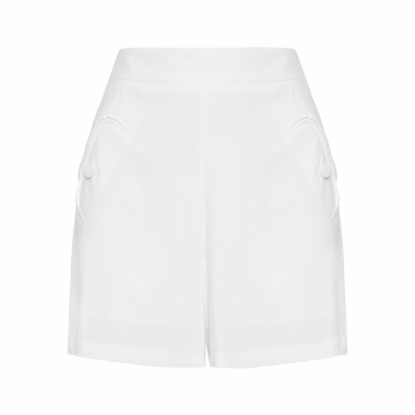 Short Feminino Alfaiataria - Off White