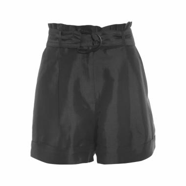 Short Feminino Clochard Bainha Italiana - Preto